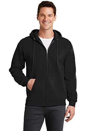 Port & Company Men's Classic Full Zip Hooded Sweatshirt M Jet Black