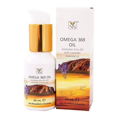 Y-Not Natural- Organic Pharmaceutical 100% Pure Emu Oil 60ml | Free Range Aboriginal Omega 3, 6 & 9 Oil Infused w/Lavender for Hypoallergenic Skin Care, Hair & Healing | Natural Source of Vitamin K2