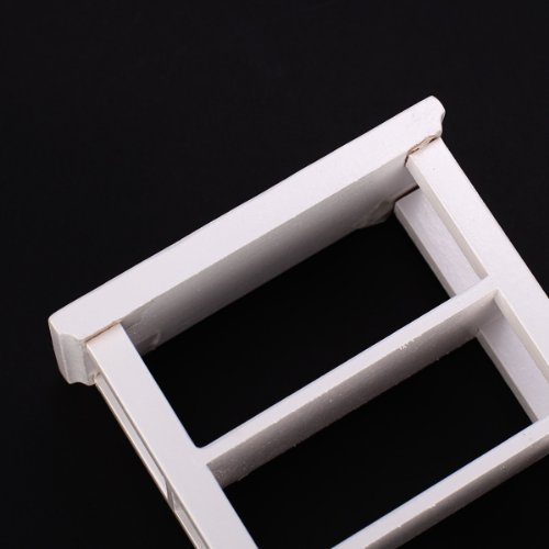 TOOGOO(R)) Regal Weiss 1:12 Dollhouse Miniatur-Moebel aus Holz Studie