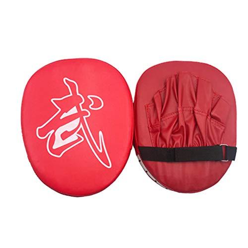 pzcvo Manoplas Boxeo Paos Muay Thai Boxeo de Equipos Kick Pads Artes Marciales Almohadilla de Palma punzonada Sparring Almohadillas Patada de Golpe DE Red,Freesize