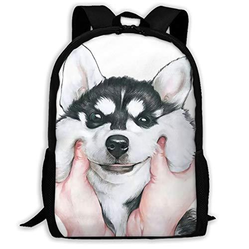 High-Capacity Unisex Adult Backpack Siberian Husky Bookbag Travel Bag Schoolbags Laptop Bag