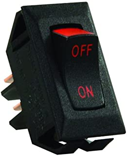 JR Products 13655 Black/Red Print SPST Labeled On/Off Switch