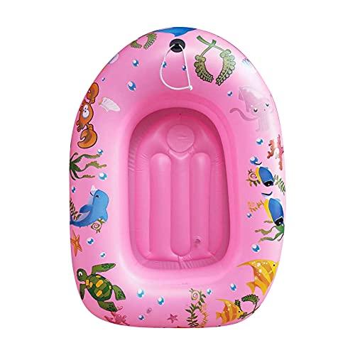 Artline Bañera barco engrosado inflable mini anillo de natación portátil para niños -A