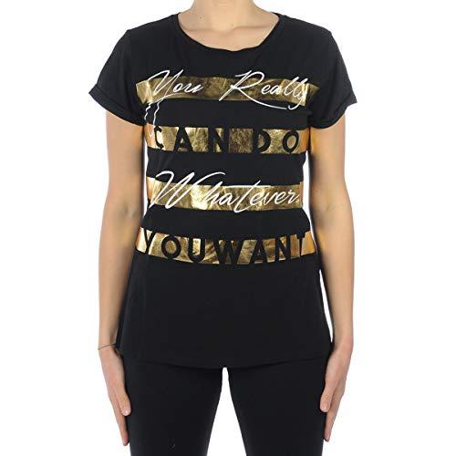 Liu Jo Jeans Camiseta Liujo Sport Camiseta MC Lucia Mujer Negro T18126/J5003 Negro S
