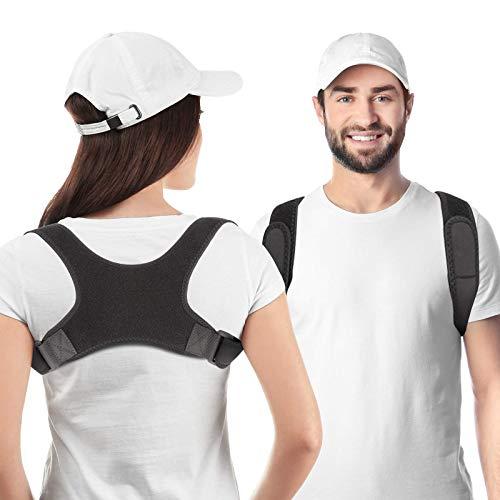 Haltungskorrektur Für MäNner Und Frauen, RückenstüTze Rücken Geradehalter Schultergurt Haltungstrainer, Rückenstrecker mit Verstellbarer Wirksam Bei Nacken Und Schulterschmerzen Posture Corrector
