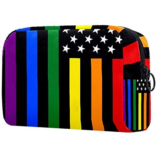 Bolsa Maquillaje Almacenamiento organización Artículos tocador cosméticos Estuche portátil Bandera Arcoiris Orgullosa Gay para Viajes Aire Libre
