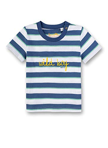 Sanetta Baby-Jungen T-Shirt, Blau (Blue 50317), 68 (Herstellergröße: 068)