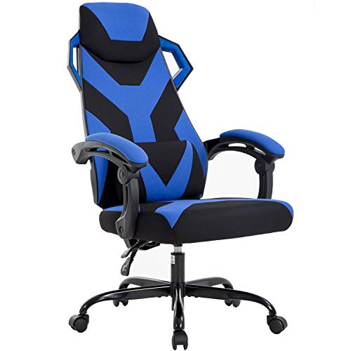 PC Gaming Chair Ergonomic Office Chair Desk Chair Executive Swivel Rolling Computer Chair with Lumbar Support Headrest Arms for Back Pain,Blue blue chair gaming