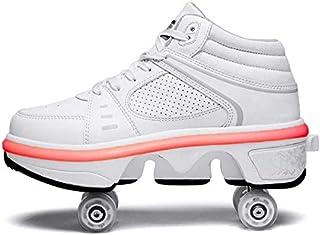 Zapatos De Patín De Ruedas con Luz LED con Ruedas Zapatos De Patín De Ruedas con Tira De LED Mejorados 7 Colores Que Cambi...