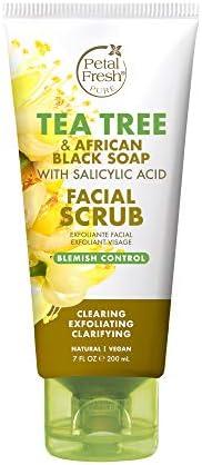 Petal Fresh Tea Tree African Black Soap Facial Scrub Pure Blemish Control Clean Skincare Natural product image