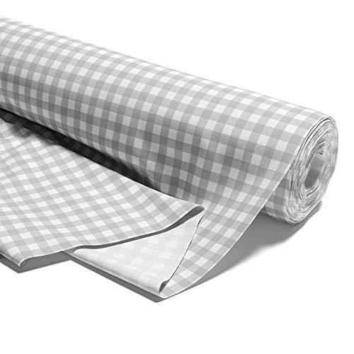 Amazinggirl Baumwollstoff Meterware weiß grau Stoff aus 100{1435e00fd98d52a77c756dcf112f90b4b7cb5557537d5f72943b89825239fe0d} Baumwolle - Stoffe zum Nähen Nähstoffe Uni Baumwollstoffe Öko-Tex Standard 100 grau-weiß 100x160 cm