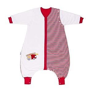 Saco de dormir Slumbersac estándar para bebé con pies y manga larga desmontable 2.5 Tog – coche de bomberos – 18-24…