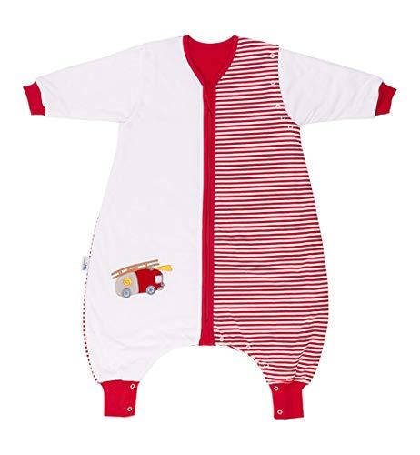 Saco de dormir Slumbersac estándar para bebé con pies y manga larga desmontable 2.5 Tog - coche de bomberos - 18-24 meses/90cm