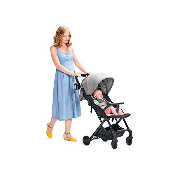 Kinderkraft Pilot light stroller, buggy stroller, child buggy, folding KinderKraft An innovative folding system, with a shoulder strap for easy transport The set contains: Modern barrier, shopping basket under the seat, foot protection, rain cover and cup holder. High quality stored, rubber wheels - all muffled. 6