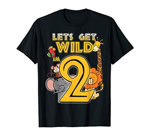 2 Years Old Zoo Animals Safari 2nd Birthday Boys Girls T-Shirt