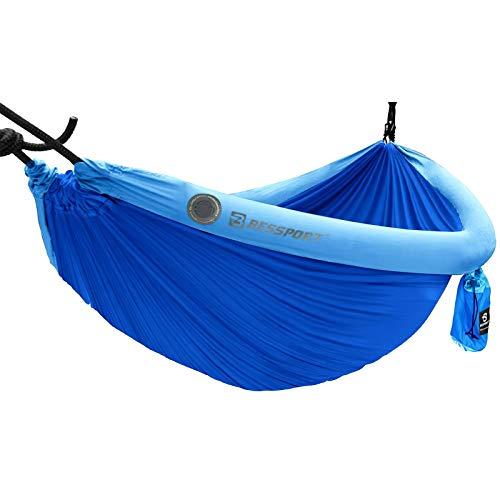 Bessport Camping Hammock, 240 x 173 cm, Double Hammock, 200 kg Load Capacity, with TPU Hammock Inflatable Tube
