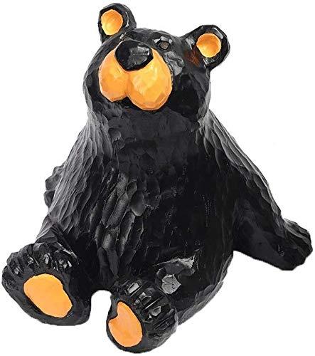 SHOP YJX Escultura Oso Negro Lindo de la Moneda Caja de Dinero Abstracto Creativo de Naughty Bear Hucha decoración del hogar