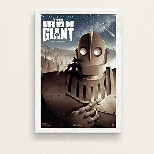 yangchunsanyue El Gigante de Hierro película clásica Robot Arte Pintura Lienzo póster Pared decoración del hogar 50X70Cm Sin Marco (ZT-2106)