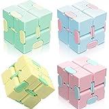 4 Piezas Infinity Cube Fidget Toy, Cube Durable Exquisito, Juguete de Descompresión Educativo para Alivia el Estrés, para jóvenes y mayores, adultos o niños en