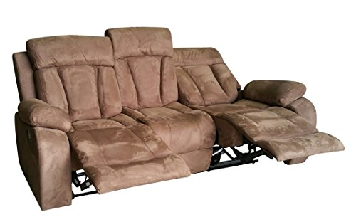 Microfaser Relaxsofa Schla-Couch Relaxsessel Fernsehsofa 4040-3-VF03