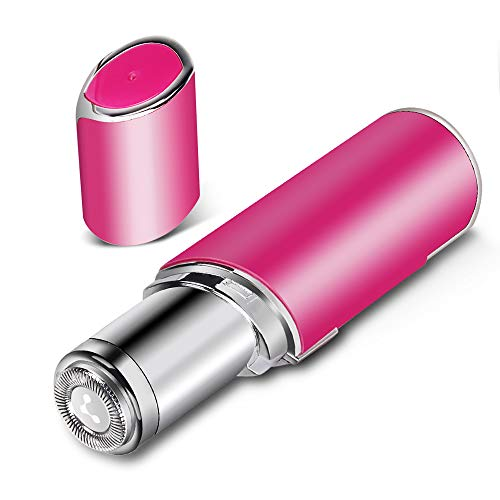 Facial Hair Removal for Women - Innoo Tech Waterproof Painless Facial Hair Remover Women Facial Hair Shaver Facial Hair Razor with LED Light - Pink