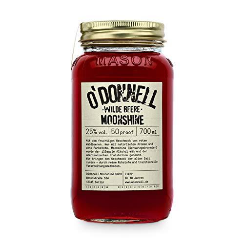 """O'Donnell Moonshine """"Wilde Beere"""" Likör (700 ml) I Made in Germany I Natürliche Zutaten I Premium Schnaps nach Amerikanischer Tradition I 25% Vol. Alkohol"""