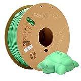 Polymaker Eco-Friendly PLA Filament 1.75mm Green 1kg Carton Spool PLA Filament 1.75 - PolyTerra PLA 3D Printer Filament Print with Most 3D Printers Using 3D Filament