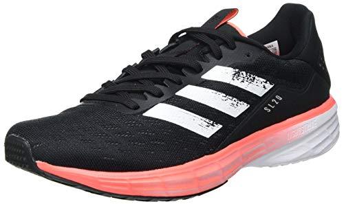 adidas SL20 W, Zapatillas de Running Mujer, Core Black/FTWR White/Signal Coral, 43 1/3 EU