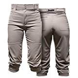 Franklin Sports Youth Baseball Pants - Grey Baseball and Softball Pants - Boys + Girls Youth Pants - Classic Fit Kids Pants with Belt Loop - Youth X-Small