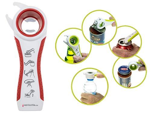 Multifunktionsöffner 5 in 1 für Mason Jars, Einmachgläser, Flaschen und Dosen   ideal zum einfachen, sicheren öffnen der Ball Mason Jars Einkochgläser