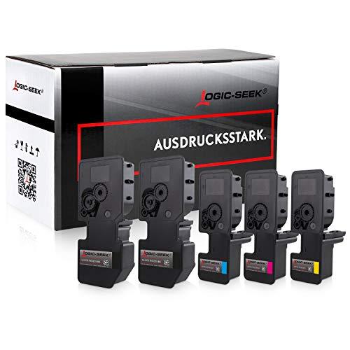 5X Logic-Seek Toner kompatibel für TK5230 Multipack Kyocera Ecosys P5021cdn P5021cdw M5521cdn M5521cdw