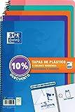 Cuadernos Folio(A4) Oxford. Pack 5 unidades. Tapa Plástico. 80 Hojas cuadrícula 4x4. Surtido colores tendencia.