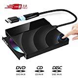 Masterizzatore CD DVD Externo, Unità DVD Esterna controllo touch USB 3.0 CD / Dvd +/- Rw, masterizzatore lettore Dvd / CD Rom per laptop Desktop Windows / Mac OS / Linux& MacB