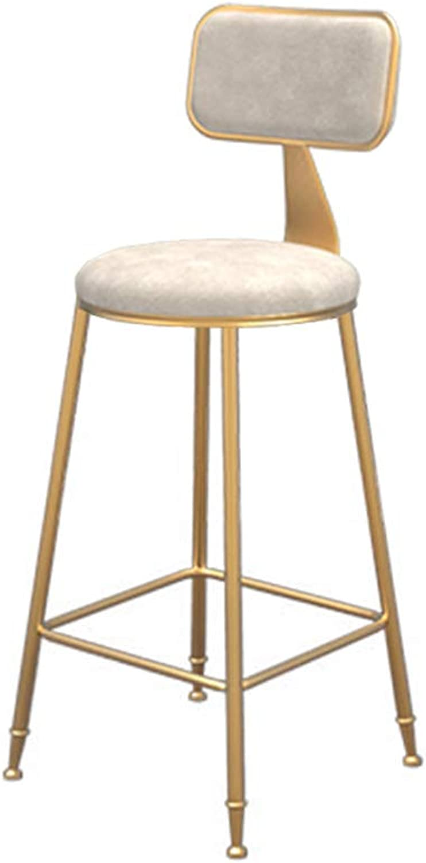 Xiao Jian Nordic Bar Chair Lounge Chair Bar Chair High Stool Bar Stool Bench Dining Chair Beauty Chair Bar Chair (color   White, Size   Sitting Height 45)