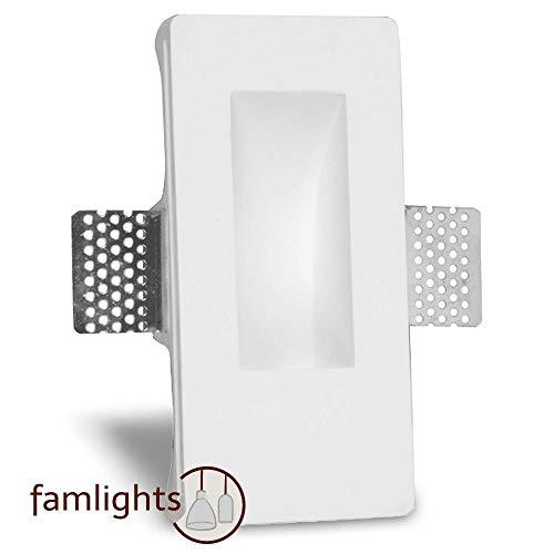 famlights Gipseinbauleuchte Pascal, individuell gestaltbar, inkl. LED warmweiß Deckeneinbauleuchte, Wandeinbauleuchte für Neubau, Rohbau, Wohnzimmer, Schlafzimmer, Flur   dimmbar Hausinstallation