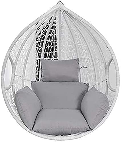 Cojín de suelo super cómodo Cojín de silla de hamaca de huevo Cojín de asiento de swing grueso Nido espeso de espalda con almohada para patio interior para exteriores jardín de jardín naranja (sin sil