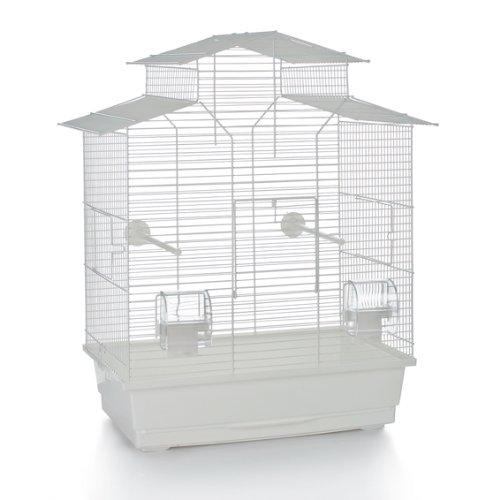 Beeztees Iza 2 Pagode Cage à Oiseau Blanc 45 x 28 x 59,5 cm