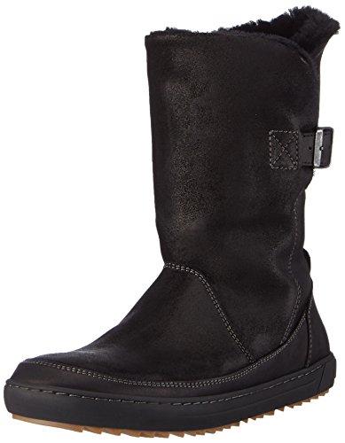 BIRKENSTOCK Shoes Damen Woodbury Kurzschaft Stiefel, Schwarz (Black Lammfell), 42 EU