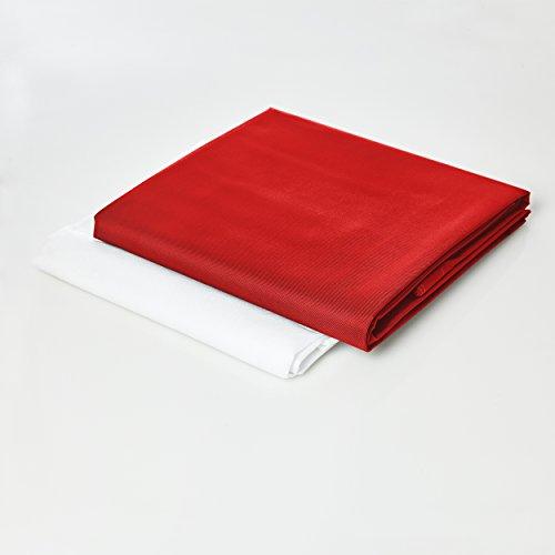 Lumaland Housse revêtement Externe Deluxe pour Pouf géant XXL 140 x 180 cm Indoor Outdoor Rouge