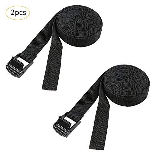 KATURN 2PCS Cinturones de Tensor para Coche, Estante, portabicicletas, Remolque, Equipaje, artículos del hogar
