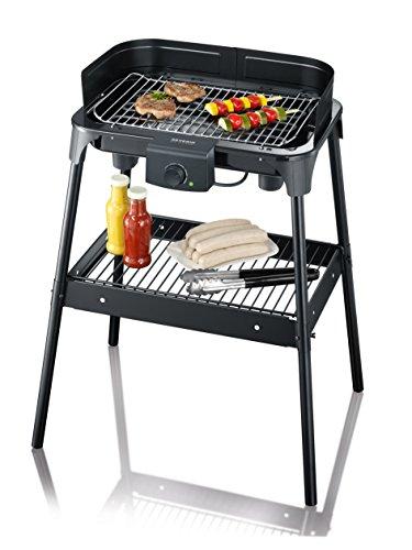 SEVERIN PG 8532 Barbecue-/Standgrill (2.500W, Grillfläche, 41x26 cm) schwarz