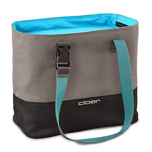 cloer Bolsa térmica, Sistema de Cuidado del Almuerzo, Capacidad para hasta 3 fiambreras, función Aislante, Logotipo Reflectante, Azul, 9 Liter