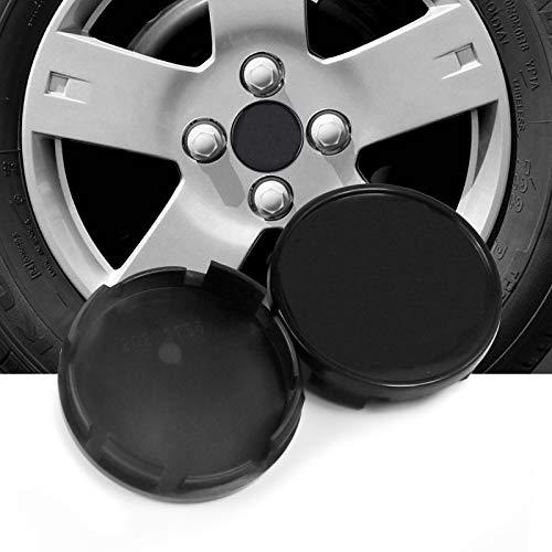 4pcs 63mm(2.48in)/59mm(2.32in) Wheel Hub Center Caps Black Base for #52110398AA 96452314 Camaro 2010-2016