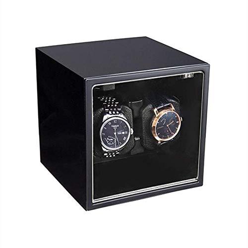 HYCy Caja de Reloj con agitador de Motor silencioso, Reloj automático con Barril Giratorio, decoración Exquisita, 2 Relojes mecánicos, Soporte para Caja de Reloj