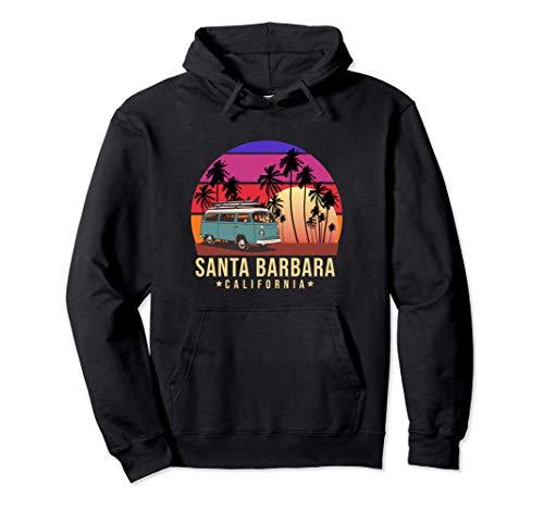 California Santa Barbara Vintage Van Surfer Sudadera con Capucha