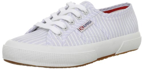 Superga - 2750 Cotu Classic - Baskets - Mixte Adulte - Blanc (Stripes White/Blue) - 39.5 EU