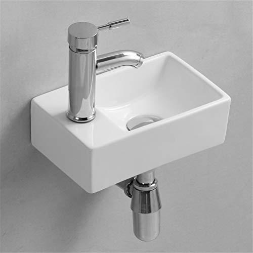 Gimify Lave Main Suspendu Mini Lavabo Mural pour WC Toilette, 300x185x90mm