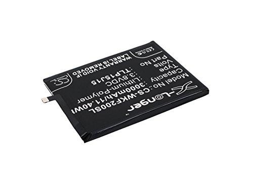 TechGicoo Batería de repuesto para Wiko Fever 4G (3000 mAh, 11,40 Wh)