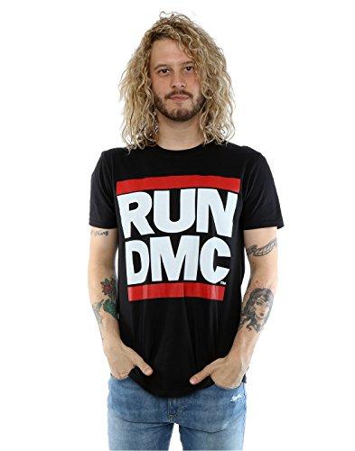 RUN DMC Herren Classic Logo T-Shirt Medium Schwarz