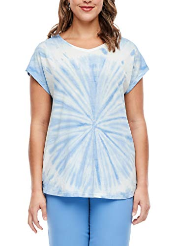 TRIANGLE Damen T-Shirt in Batik-Optik Blue 54